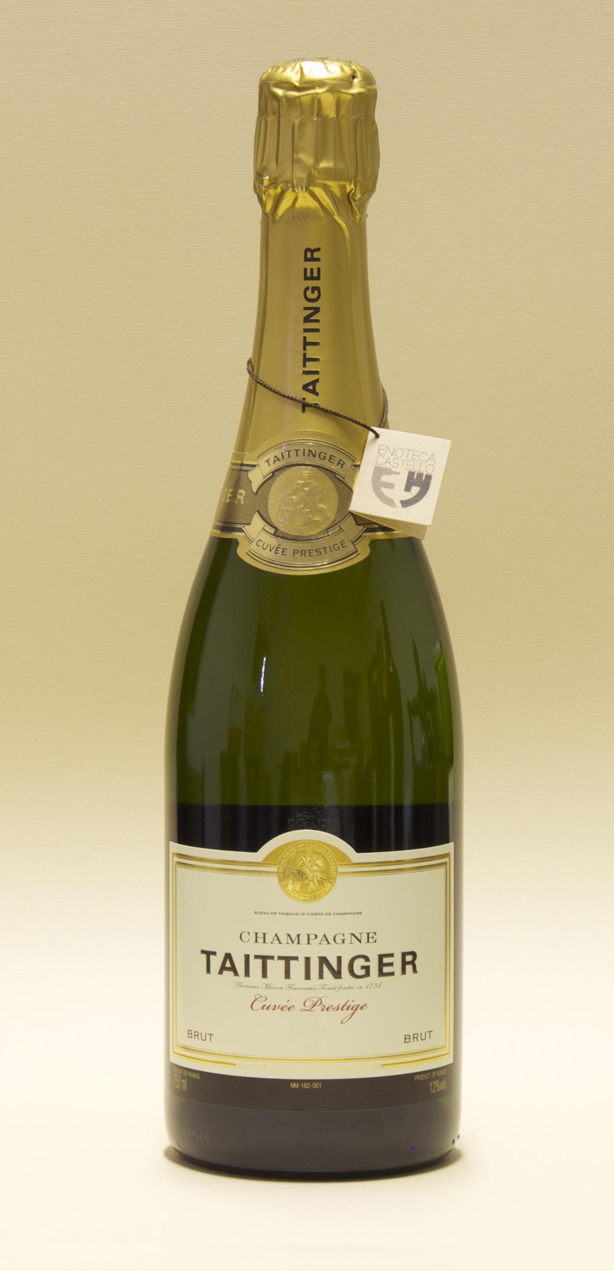 Taittinger vendita vini online enoteca castello pavia - Champagne taittinger cuvee prestige ...